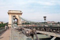Szechenyi Chain Bridge in beautiful Budapest. Hungary. Royalty Free Stock Photo