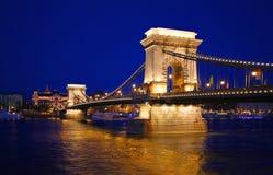 Szechenyi Chain Bridge in Budapest. Hungary Stock Image
