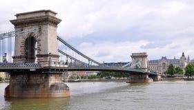 Szechenyi Chain bridge-Budapest Stock Images
