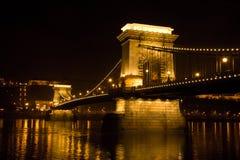 Szechenyi Chain Bridge in Budapest. Hungary stock photos