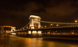 Szechenyi Chain Bridge, Budapest, Hungary Stock Photography