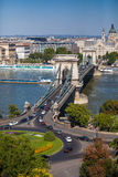 Szechenyi Chain Bridge, Budapest, Hungary Stock Image