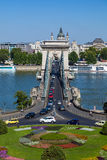 Szechenyi Chain Bridge, Budapest, Hungary Stock Images