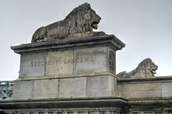 Szechenyi Chain Bridge - Budapest, Hungary Royalty Free Stock Photo