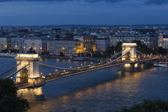 Szechenyi Chain Bridge - Budapest - Hungary Stock Image