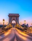 The Szechenyi Chain Bridge (Budapest, Hungary) Royalty Free Stock Photo