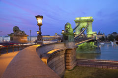 Szechenyi Chain Bridge, Budapest. Royalty Free Stock Photo