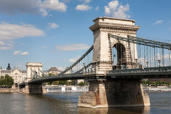Szechenyi Chain Bridge, Budapest Royalty Free Stock Photography