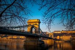 Szechenyi Chain Bridge Royalty Free Stock Photography