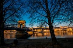 Szechenyi Chain Bridge Stock Image