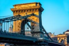 Szechenyi Chain Bridge Stock Photography