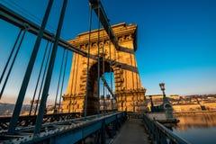 Szechenyi Chain Bridge Stock Photos