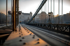 Szechenyi Chain Bridge Royalty Free Stock Images