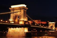 Szechenyi Chain bridge in night,Budapest Royalty Free Stock Image