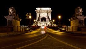 Szechenyi Chain Bridge Stock Images