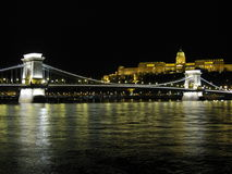 Szechenyi Chain Bridge over the Danube Stock Images