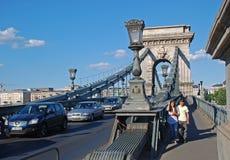 Szechenyi Chain bro, Budapest, Ungern Arkivfoto