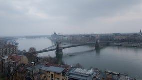 Szechenyi Lanchid bro Arkivbilder