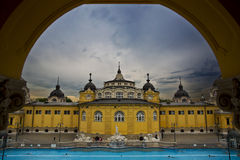 Szechenyi Medicinal Bath, Budapest royalty free stock photography