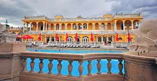 Szechenyi Medicinal thermal Bath building in Budapest Royalty Free Stock Image