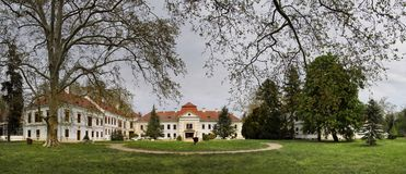 Szechenyi Palast in Nagycenk lizenzfreie stockbilder