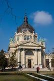 The Szechenyi spa. In the Varosliget (main city park of Budapest Royalty Free Stock Photos