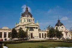 The Szechenyi spa. In the Varosliget (main city park of Budapest Stock Photo