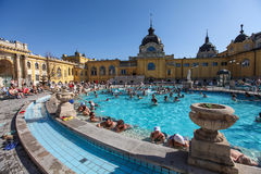 Szechenyi Spa (Bad, Therms) in Boedapest Royalty-vrije Stock Afbeelding