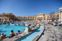 Szechenyi Spa (Bad, Therms) in Boedapest Royalty-vrije Stock Fotografie