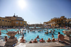 The Szechenyi Spa (Bath, Therms) in Budapest Royalty Free Stock Photo