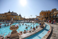 The Szechenyi Spa (Bath, Therms) in Budapest Royalty Free Stock Photography
