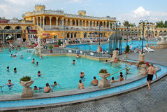 The Szechenyi Spa in Budapest stock photography