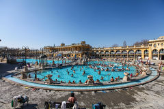 The Szechenyi Spa in Budapest Royalty Free Stock Photography