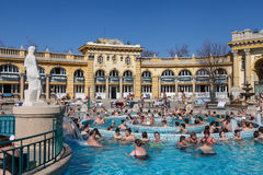 The Szechenyi Spa in Budapest. The Szechenyi Spa (Bath, Therms) in Budapest, Hungary Stock Image