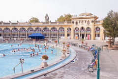 The Szechenyi Spa in Budapest Stock Images