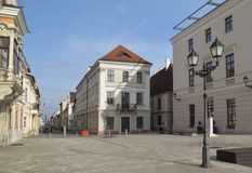 Szechenyi ter square in Gyor in Hungary Royalty Free Stock Photos