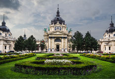 Szechenyi termiczny skąpanie w Budapest fotografia stock