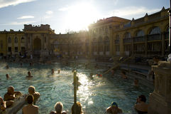 The Szechenyi Thermal Bath, budapest Royalty Free Stock Image