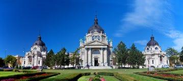 Szechenyi thermal bath, Budapest, Hungary. Szechenyi thermal and medicinal bath in Budapest, Hungary Stock Photo