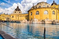 Szechenyi thermal bath in Budapest, Hungary Royalty Free Stock Photos