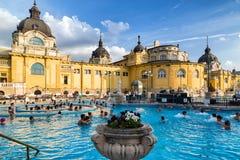 Szechenyi thermal bath in Budapest, Hungary Stock Photo
