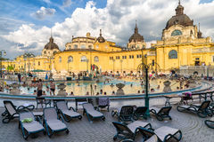 Szechenyi thermal bath in Budapest, Hungary Royalty Free Stock Images