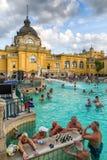 Szechenyi thermal bath in Budapest, Hungary Royalty Free Stock Image