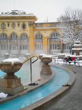 Szechenyi thermal bath in Budapest Royalty Free Stock Photography