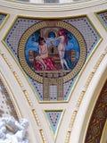 Szechenyi Thermal Bath inside, Budapest, Hungary stock images