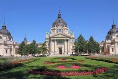 Szechenyi thermal Baths. The famous Szechenyi thermal Baths in Budapest, Hungary Royalty Free Stock Photo
