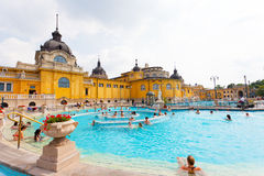 Szechenyi thermal baths in Budapest. The Szechenyi Bath is the largest medicinal bath in Europe Royalty Free Stock Photos
