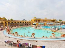 Szechenyi thermal baths in Budapest. Royalty Free Stock Images