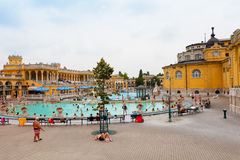 Szechenyi thermal baths in Budapest Royalty Free Stock Photography