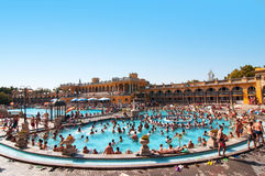 Szechenyi thermal baths in Budapest Stock Photos